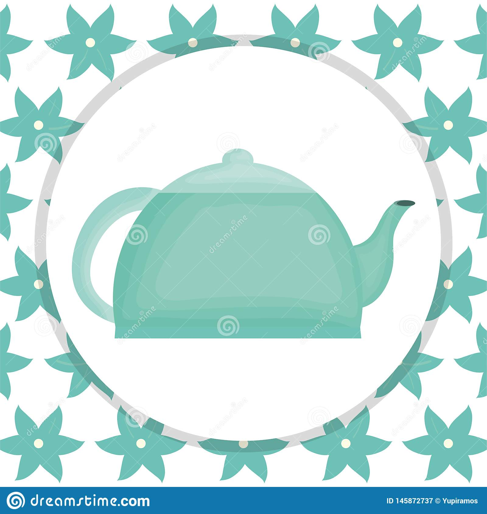Kitchen teapot element icon. Vector illustration design royalty free stock photography
