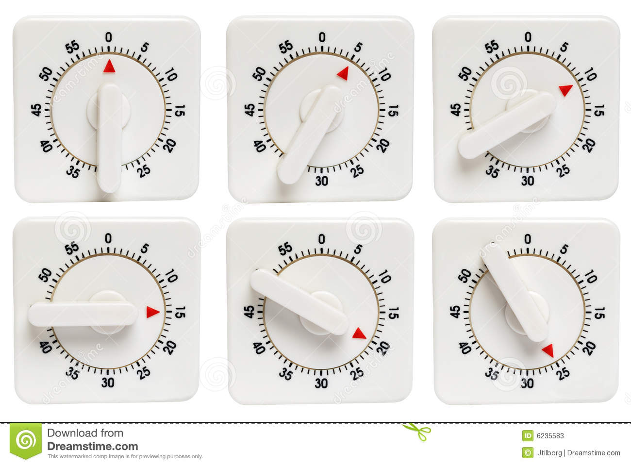 Kitchen Timer 0 To 25 Minutes Stock Image - Image of object