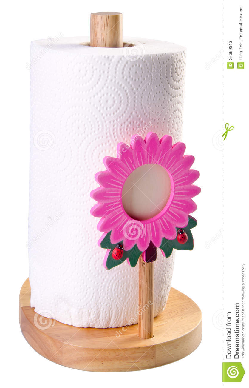 Kitchen Tissue Paper In Towel Holder Stock Image Image
