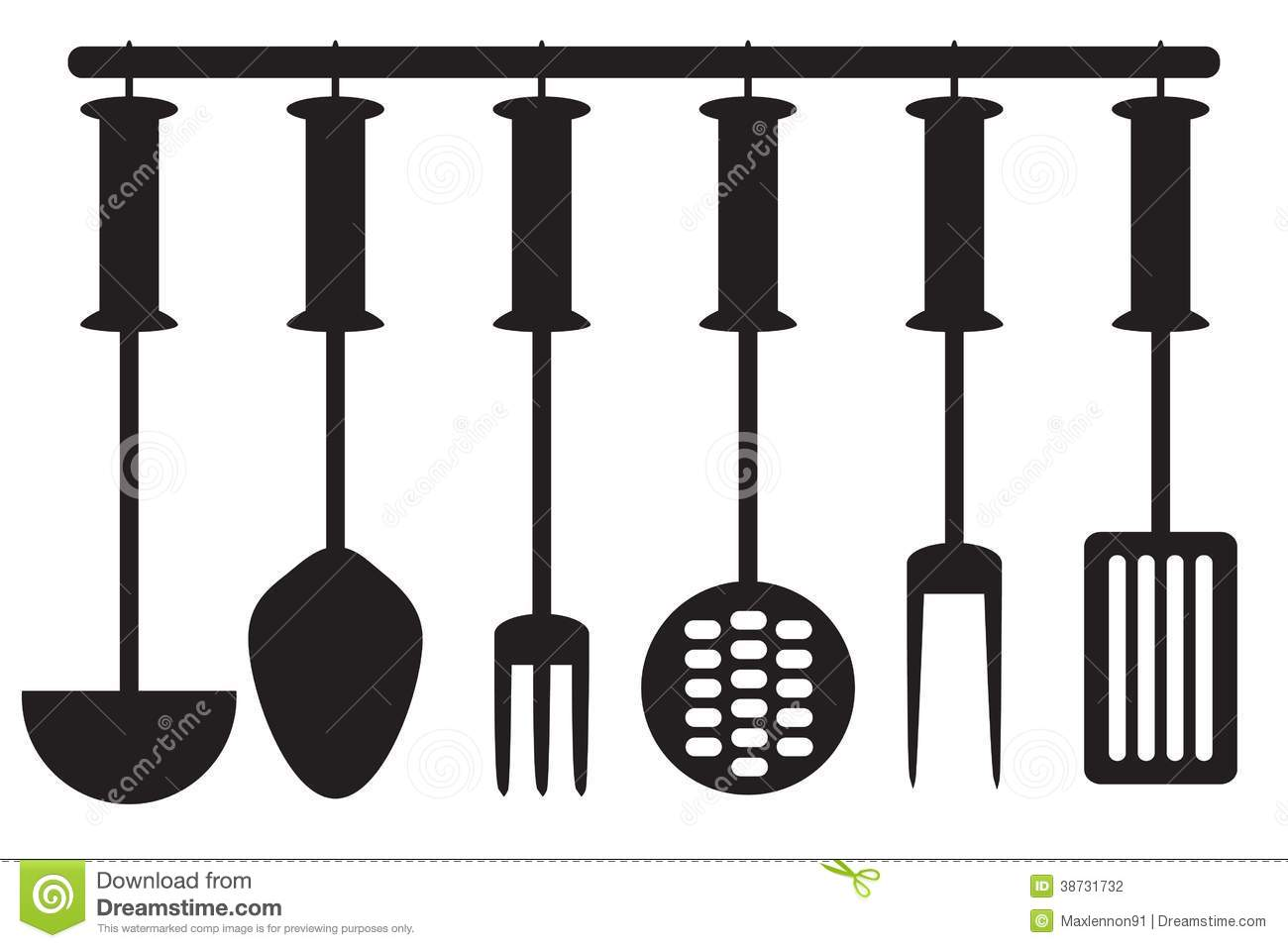 Kitchen Tool Collection Silhouette