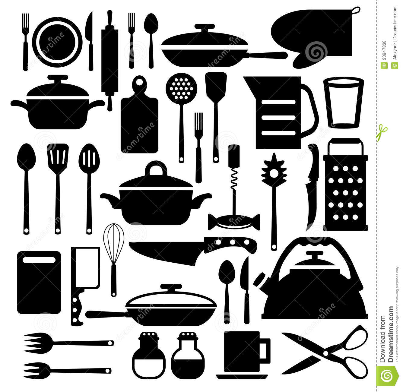 Kitchen Tool Cutlery Vector Icons Set Royalty Free Stock Photos Image 33947838