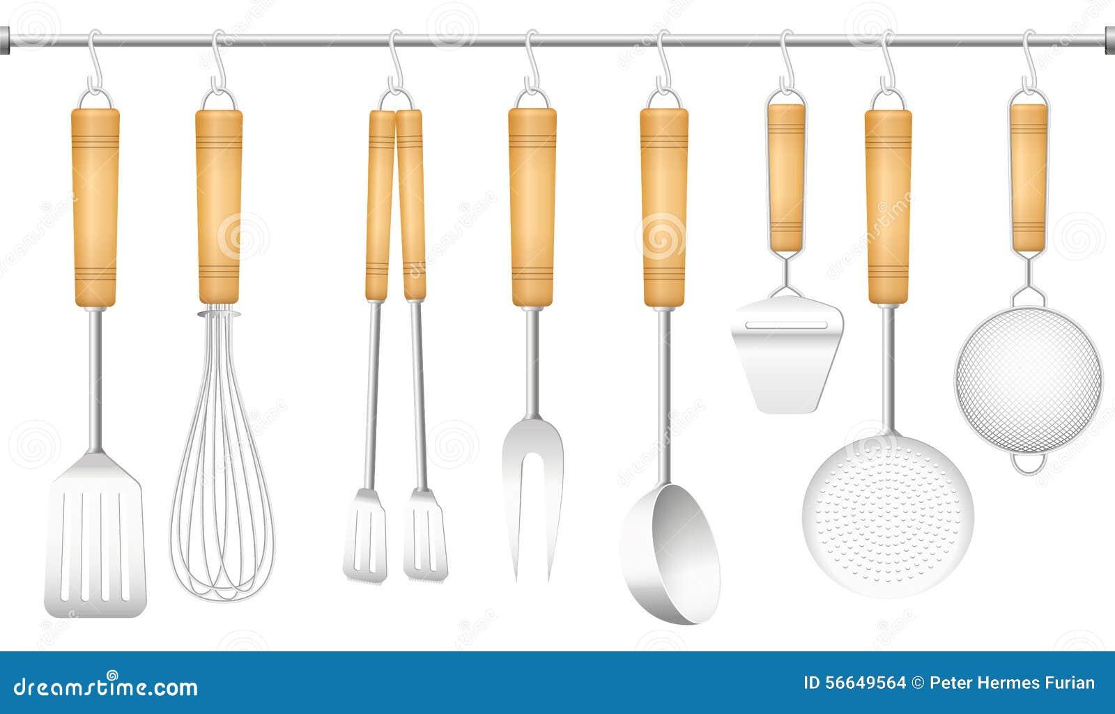 Kitchen Tool Hanger Cutlery Stock Vector Image 56649564