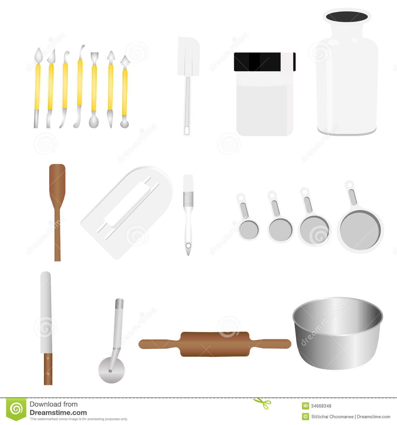 Kitchen tools stock illustration image of cooking food for Art cuisine evolution 10 piece cooking set
