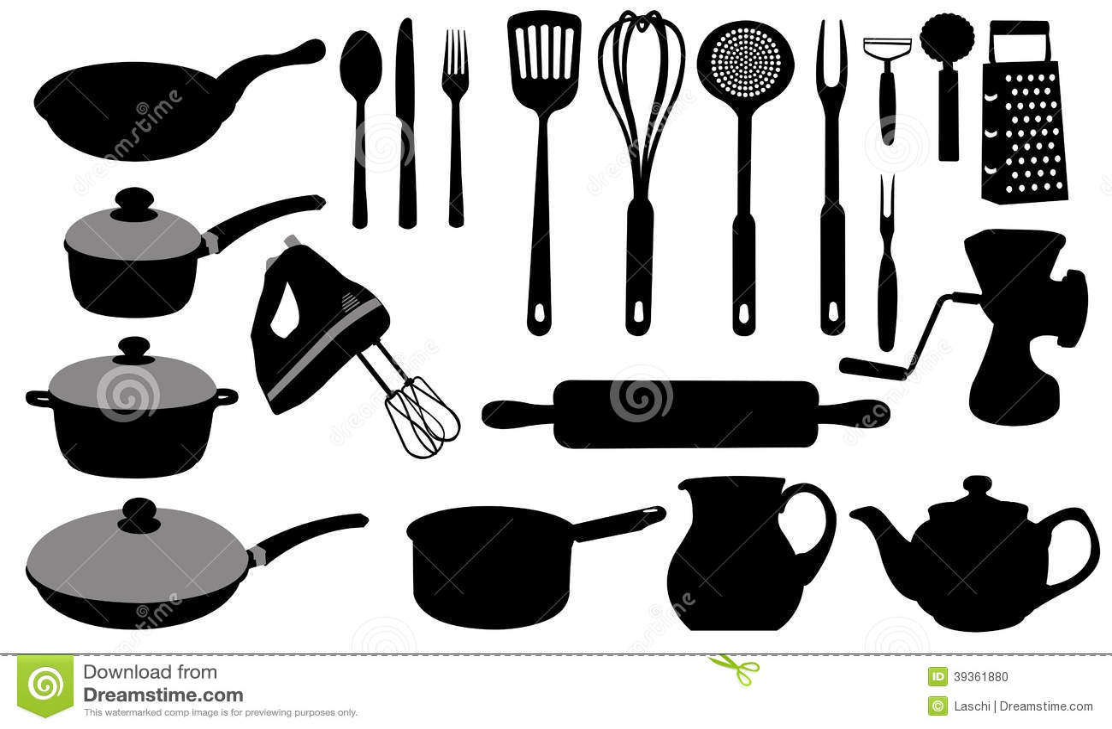 Kitchen Equipment Clip Art ~ Kitchen tools stock vector image