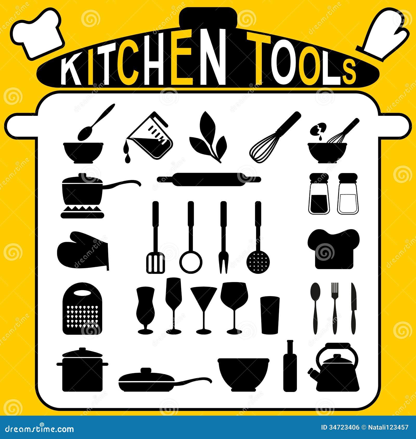 Kitchen Tools Icons Set Royalty Free Stock Image Image 34723406