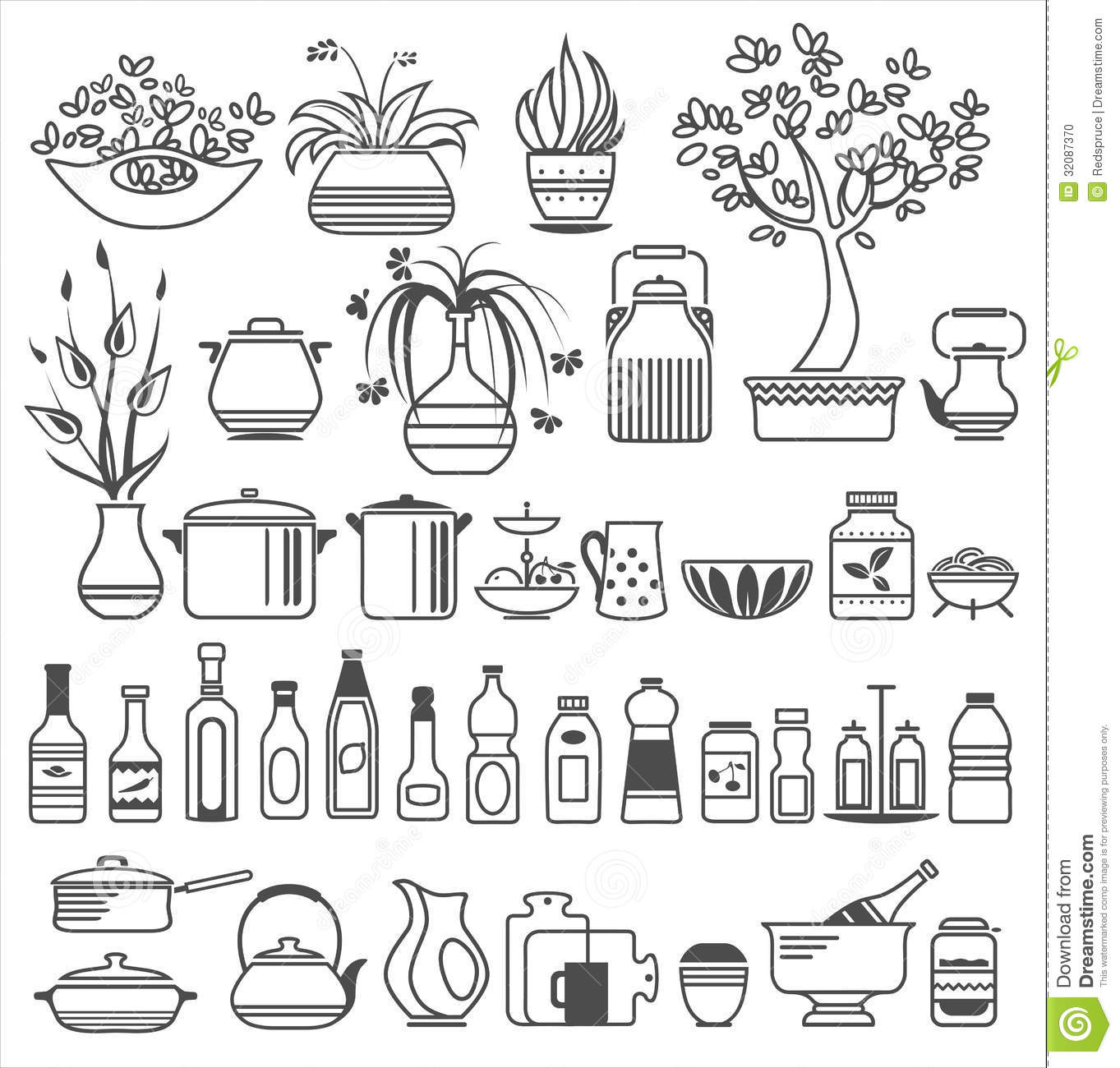 Kitchen Tools And Utensils kitchen tools and utensils. vector illustration stock photo