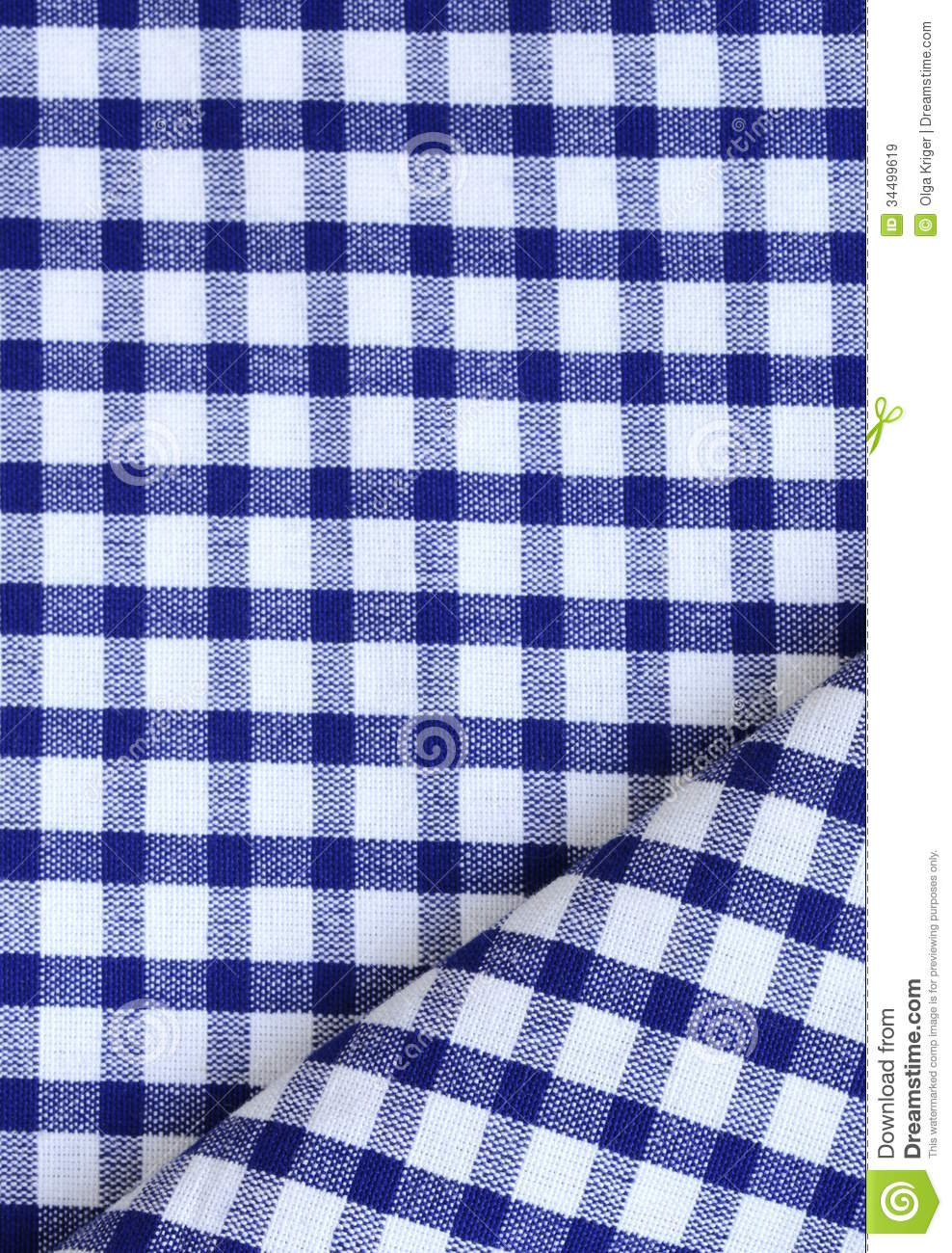 Kitchen Towel In The Blue Checkered