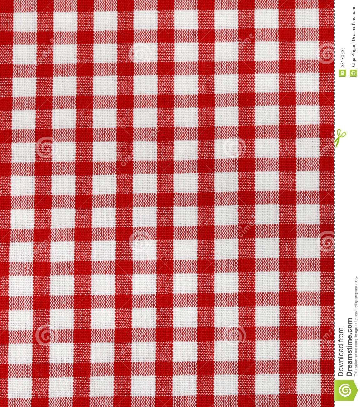 Kitchen Towel In The Red Checkered