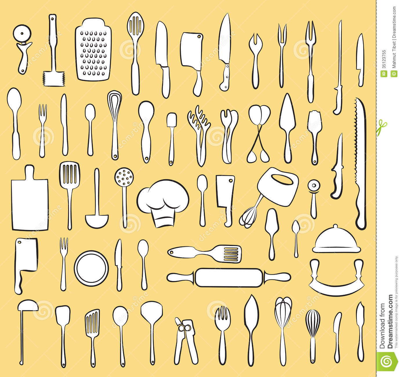 Kitchen Utensil Collection Royalty Free Stock Photo
