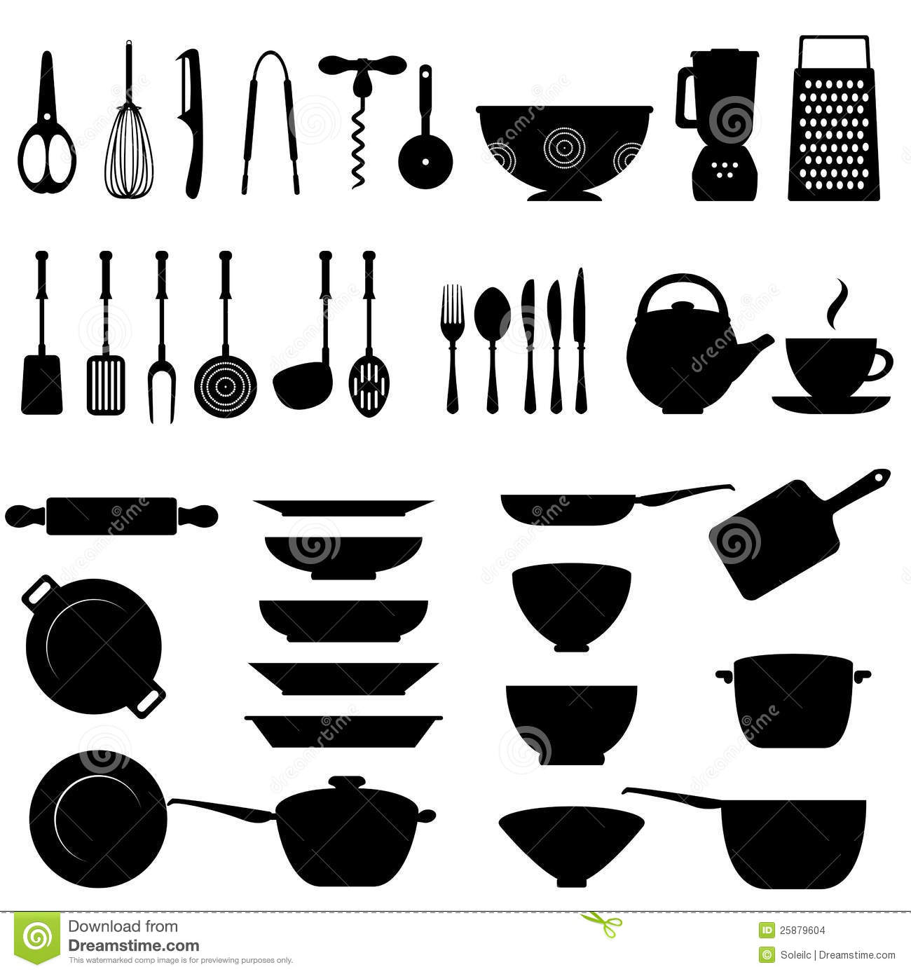 Kitchen utensil icon set stock vector illustration of for Nom des ustensiles de cuisine
