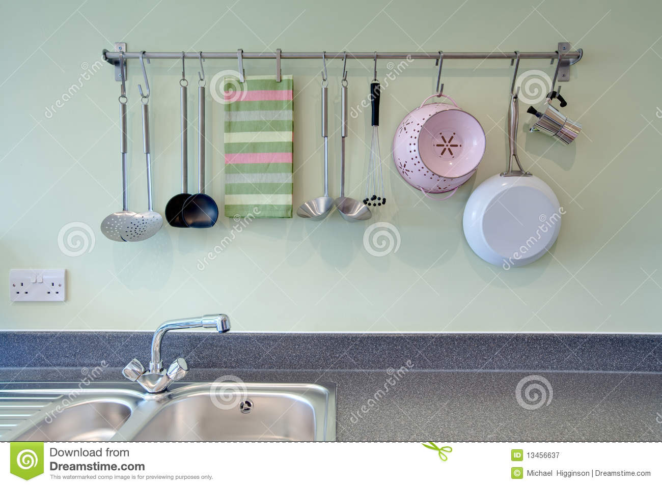 Kitchen Utensil Rack Royalty Free Stock Photography