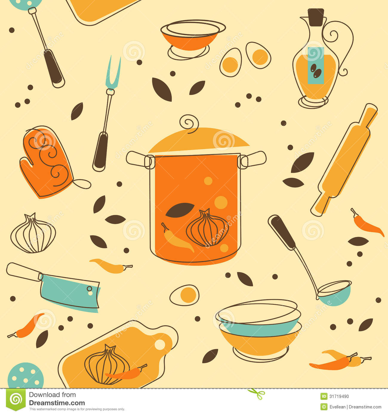 Kitchen Utensil Stock Vector. Illustration Of Cooking