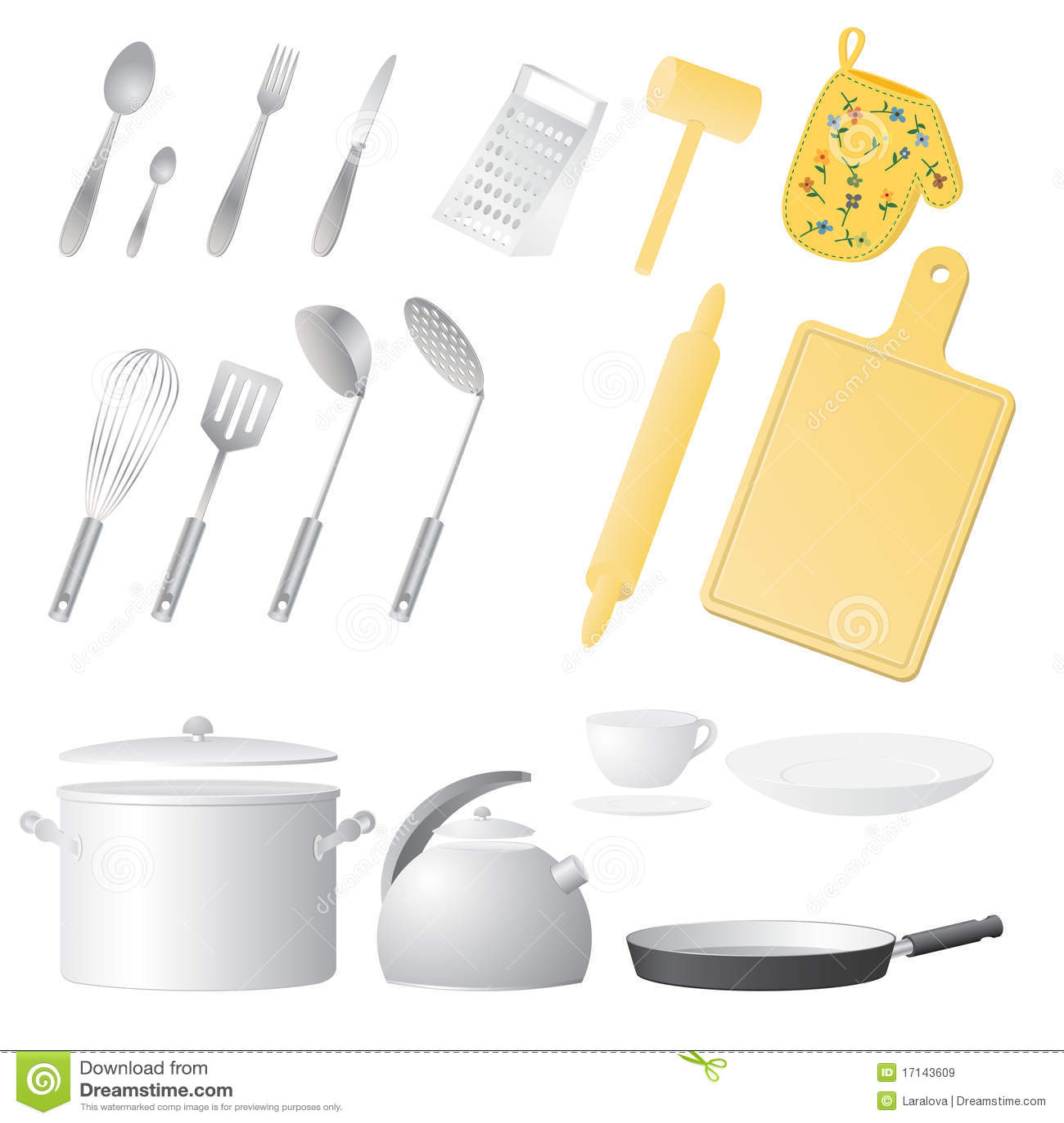 Dream Kitchen Utensils: Kitchen Utensils Stock Vector. Illustration Of Kitchenware