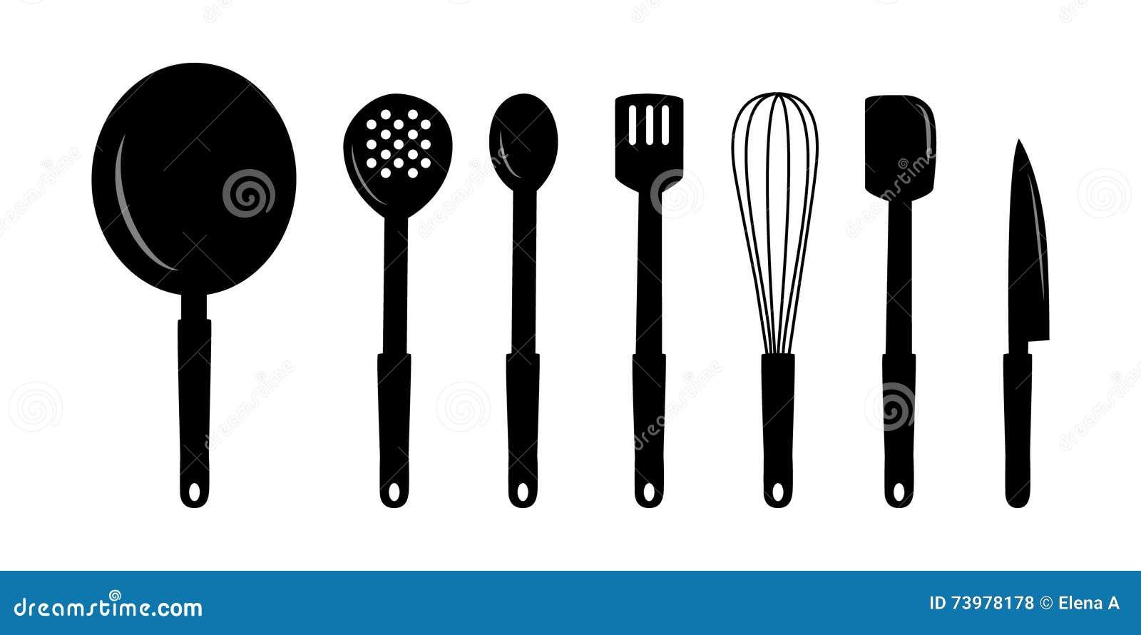 Kitchen Utensils Art kitchen utensils art stock vector - image: 73978178