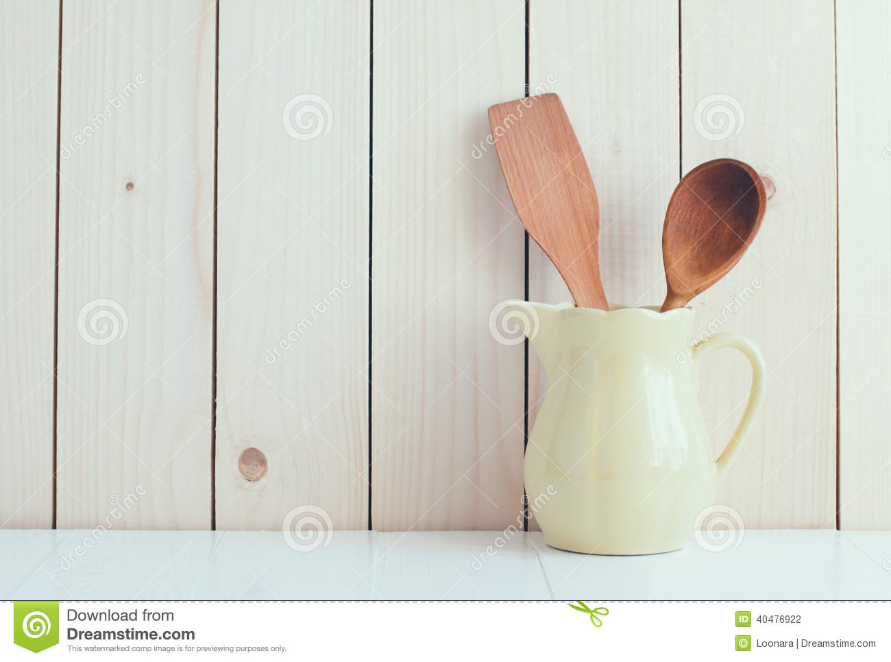 kitchen utensils in ceramic jug stock photo image 40476922. Black Bedroom Furniture Sets. Home Design Ideas