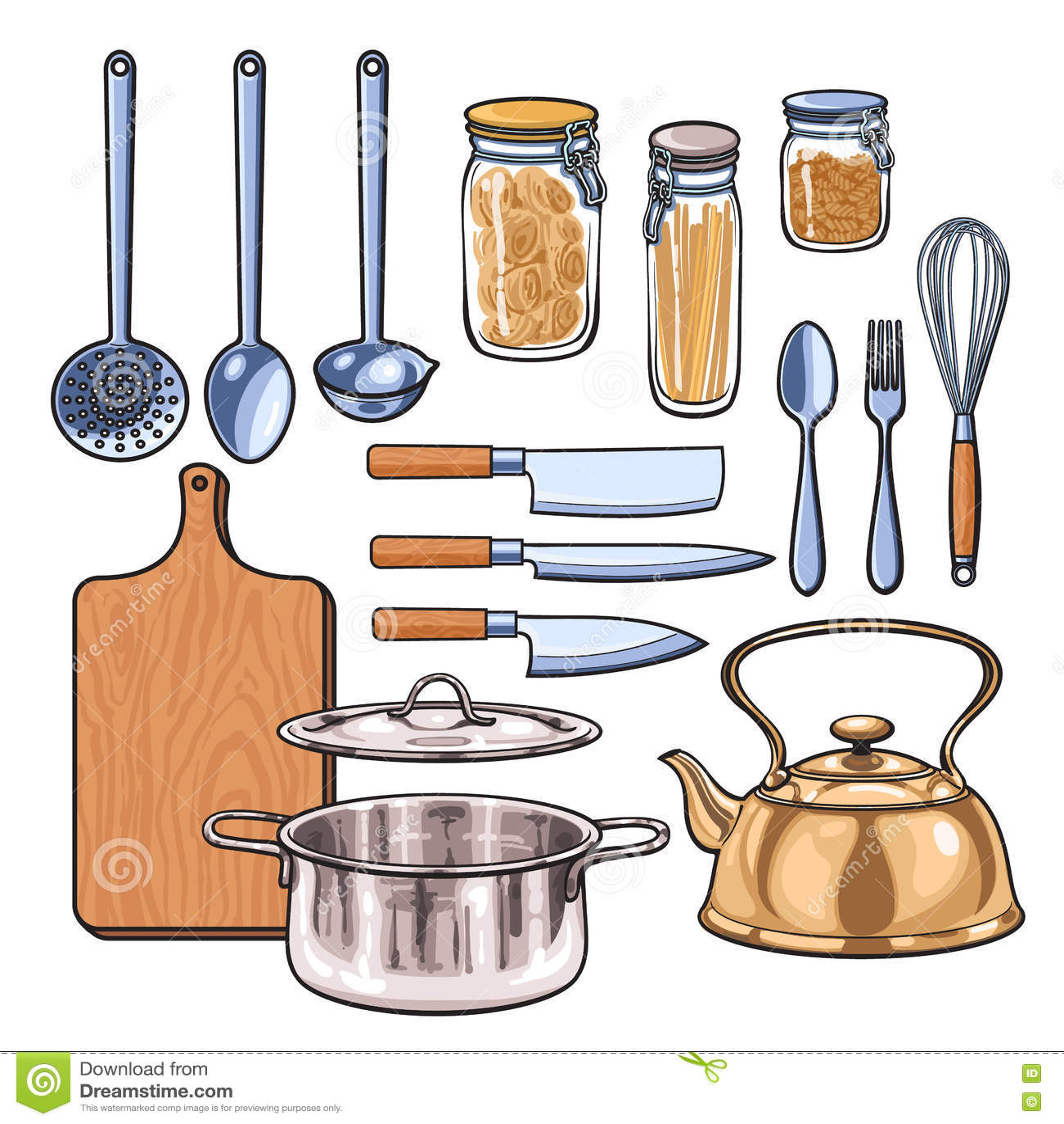 Vintage Kitchen Utensil Set