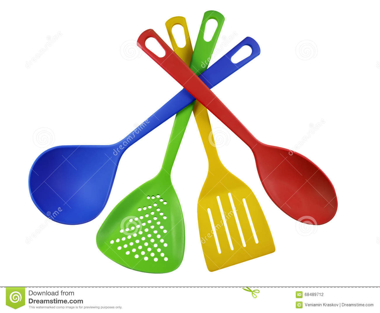 Kitchen utensils colorful stock photo image 68489712 for Colorful kitchen tools