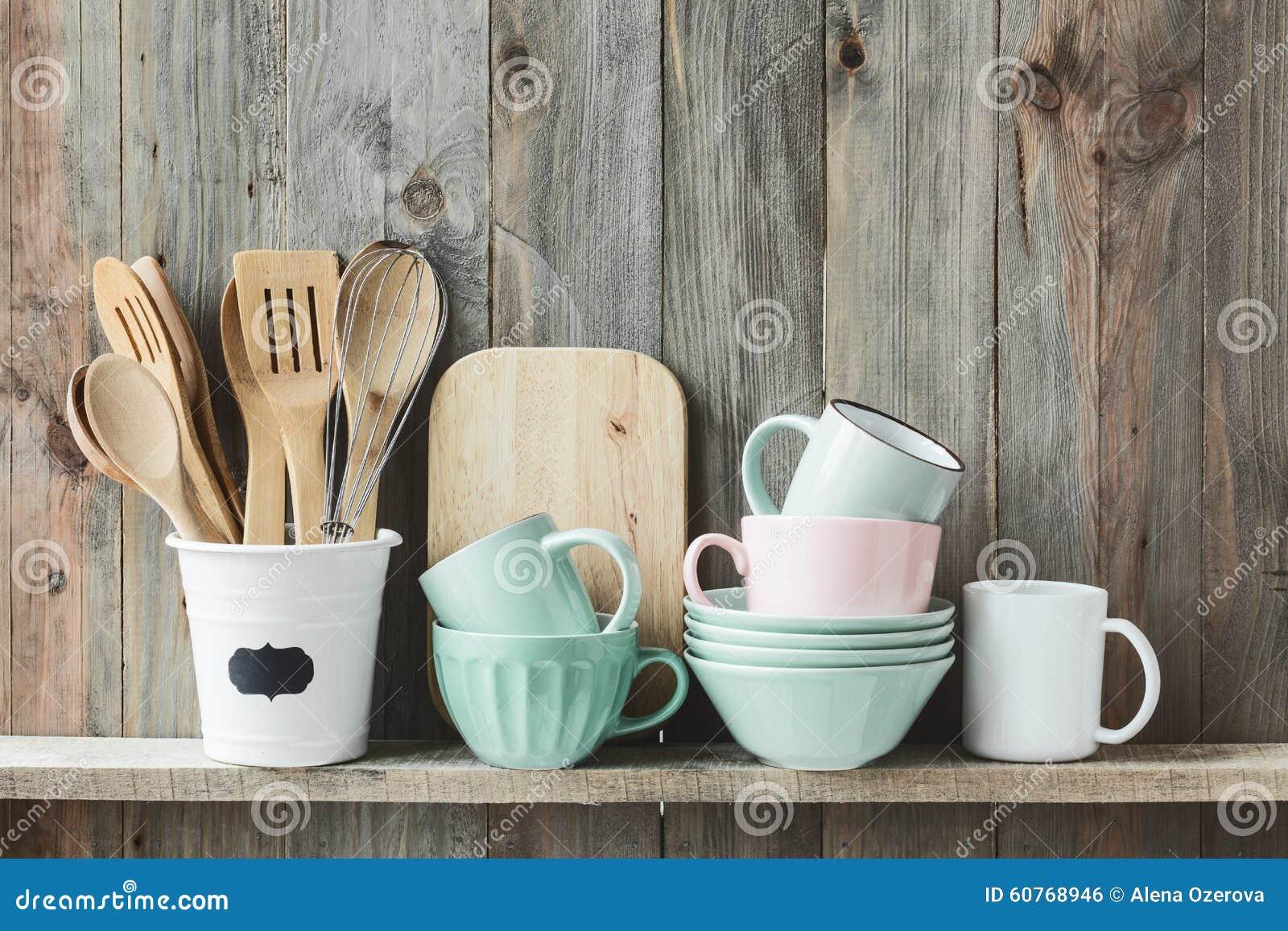 Kitchen Utensils Stock Photo Image Of Cook Grey Shelf