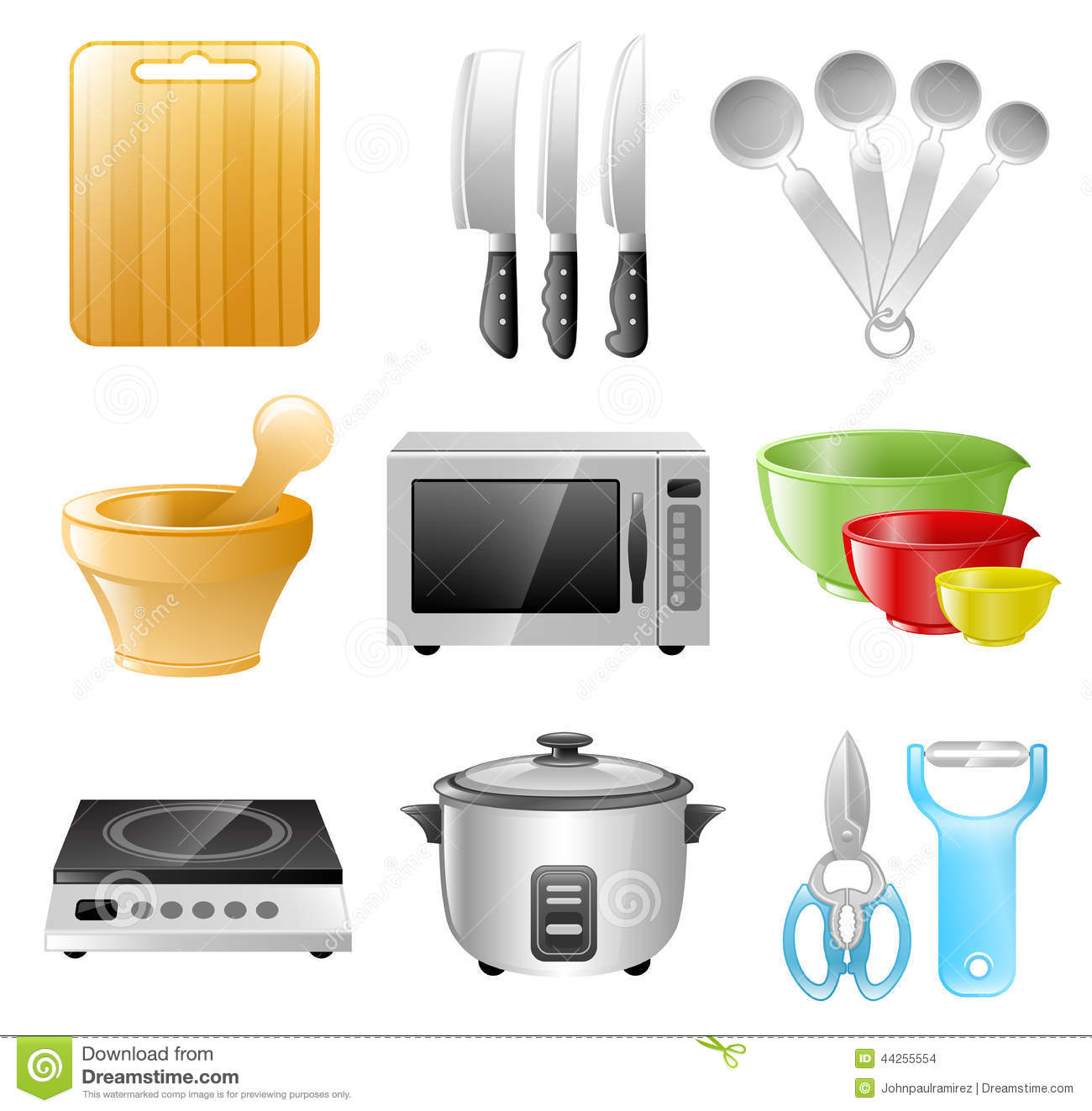 Kitchen utensils cooking restaurant stock vector image 44255554 Kitchen diner design tool