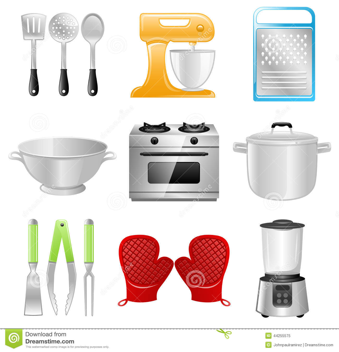 Uncategorized Kitchen Utensils And Appliances kitchen utensils cooking restaurant stock vector image 44255575 royalty free vector