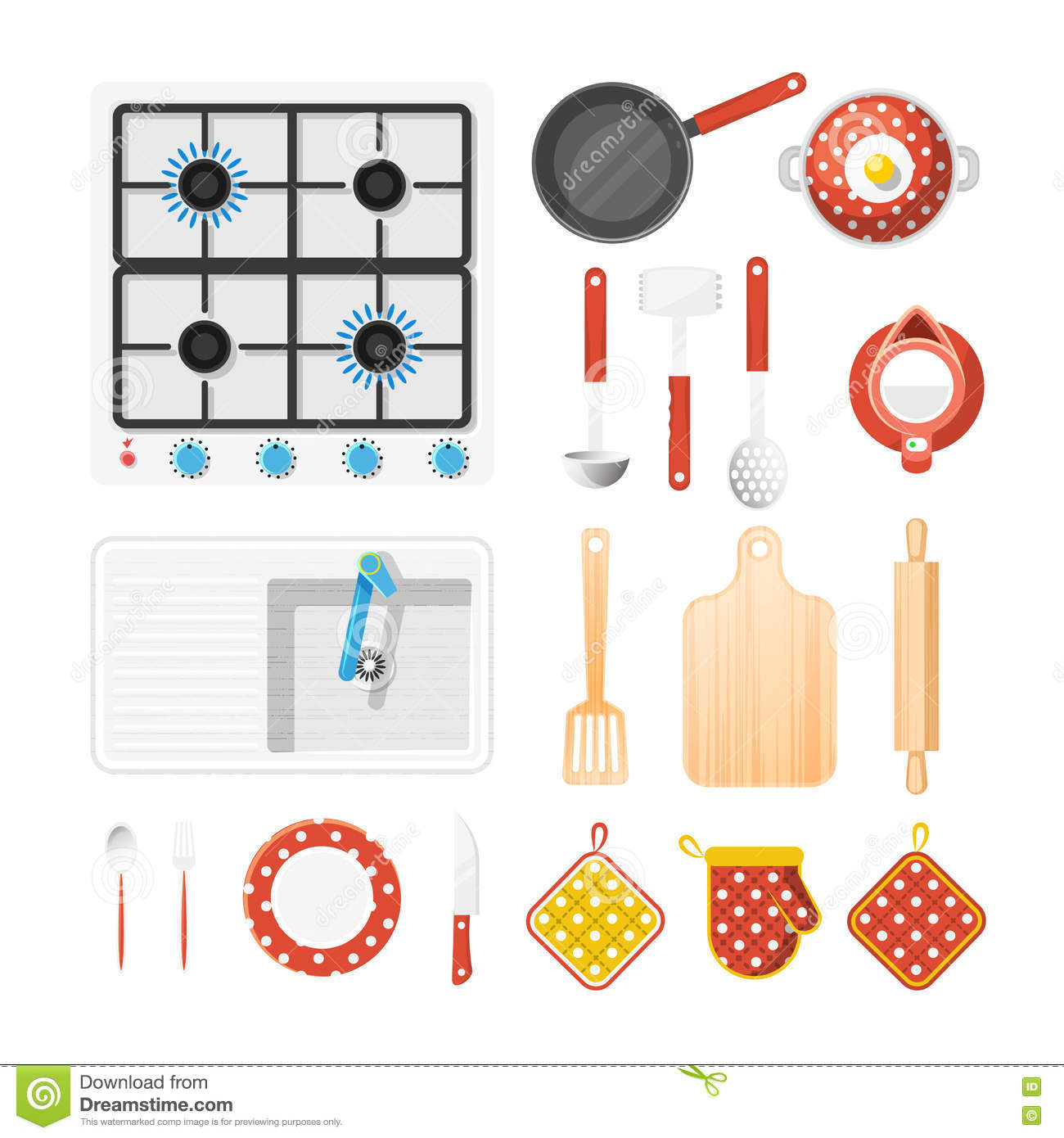 Kitchen Utensils Vector Icons 9 Stock Photo