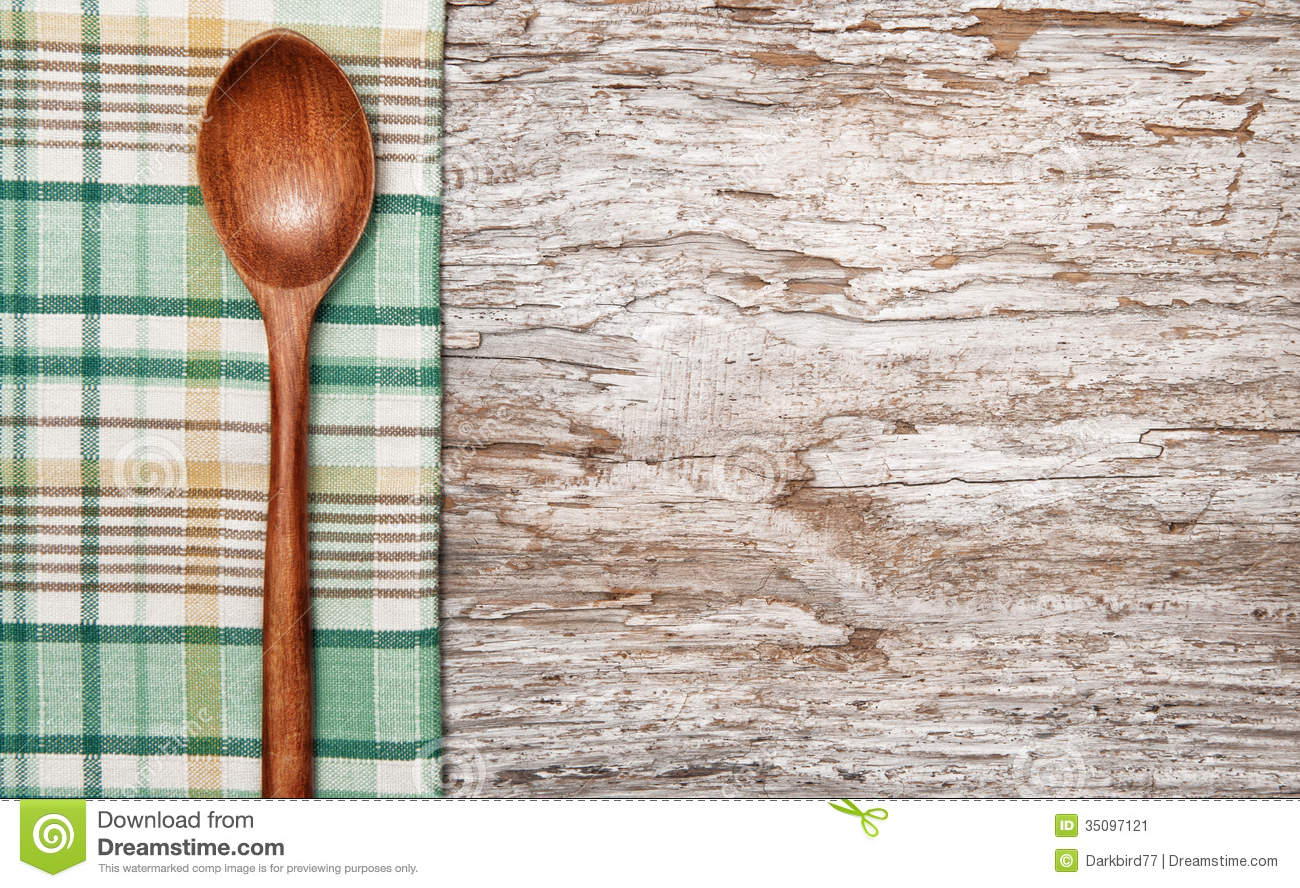 Kitchen Utensils On The Old Wood Background Stock Image Image