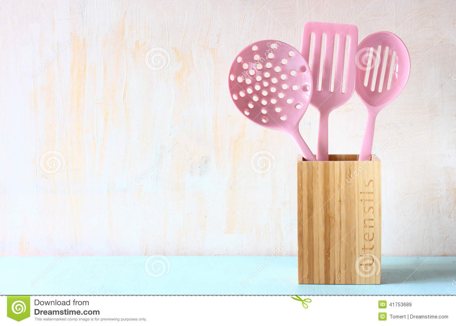 kitchen utensils background cartoon kitchen utensils over wooden textured background utensils over wooden textured background stock image
