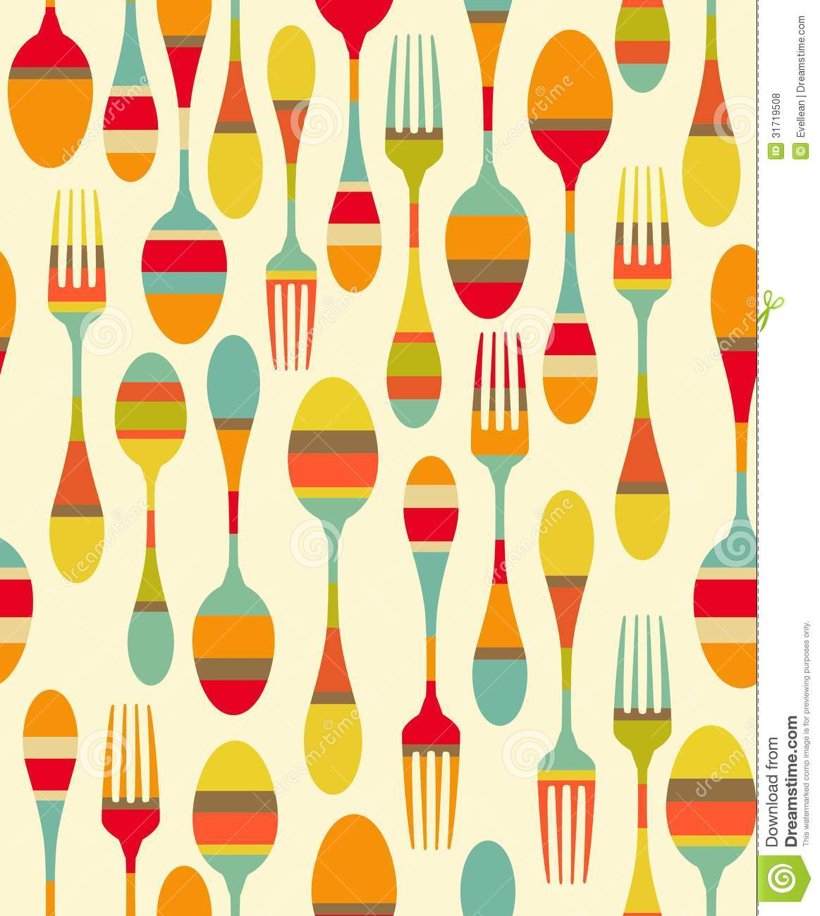 Kitchen Utensils Background kitchen utensils pattern royalty free stock photos - image: 31719508