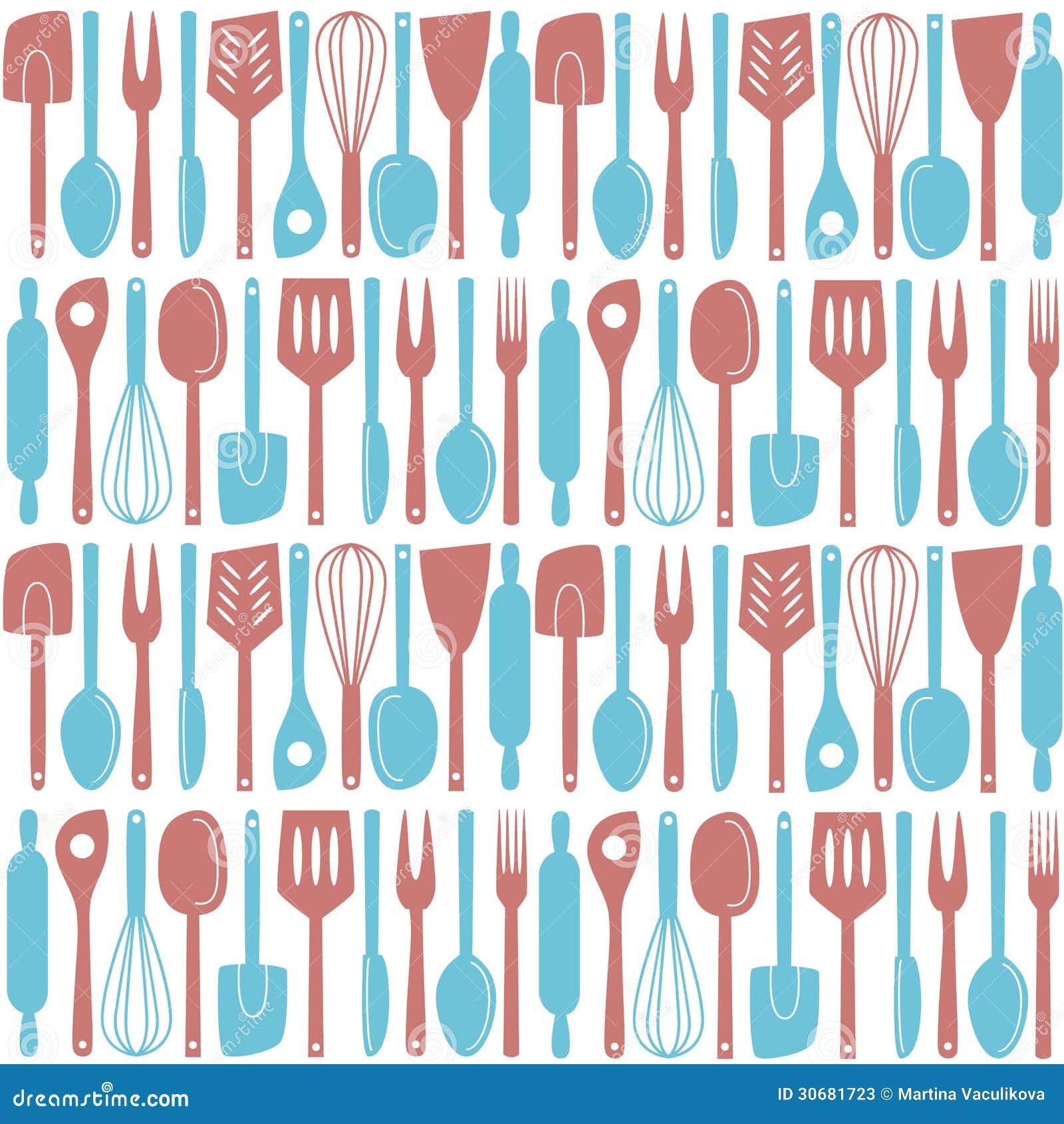 Kitchen Utensils Seamless Pattern Stock Illustrations – 647 Kitchen ...