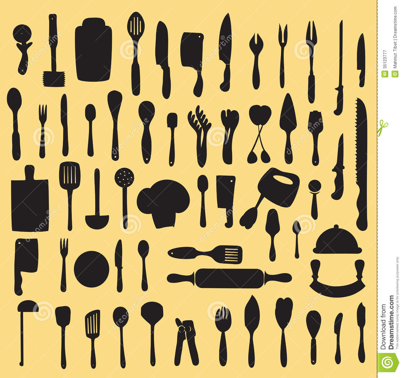 Kitchen Utensils Silhouette Vector Free Delighful Kitchen Utensils Silhouette Full Version S On Decorating