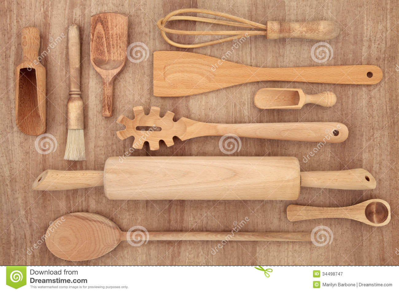 Wood Kitchen Equipment : Kitchen utensils stock image of sampler spoon