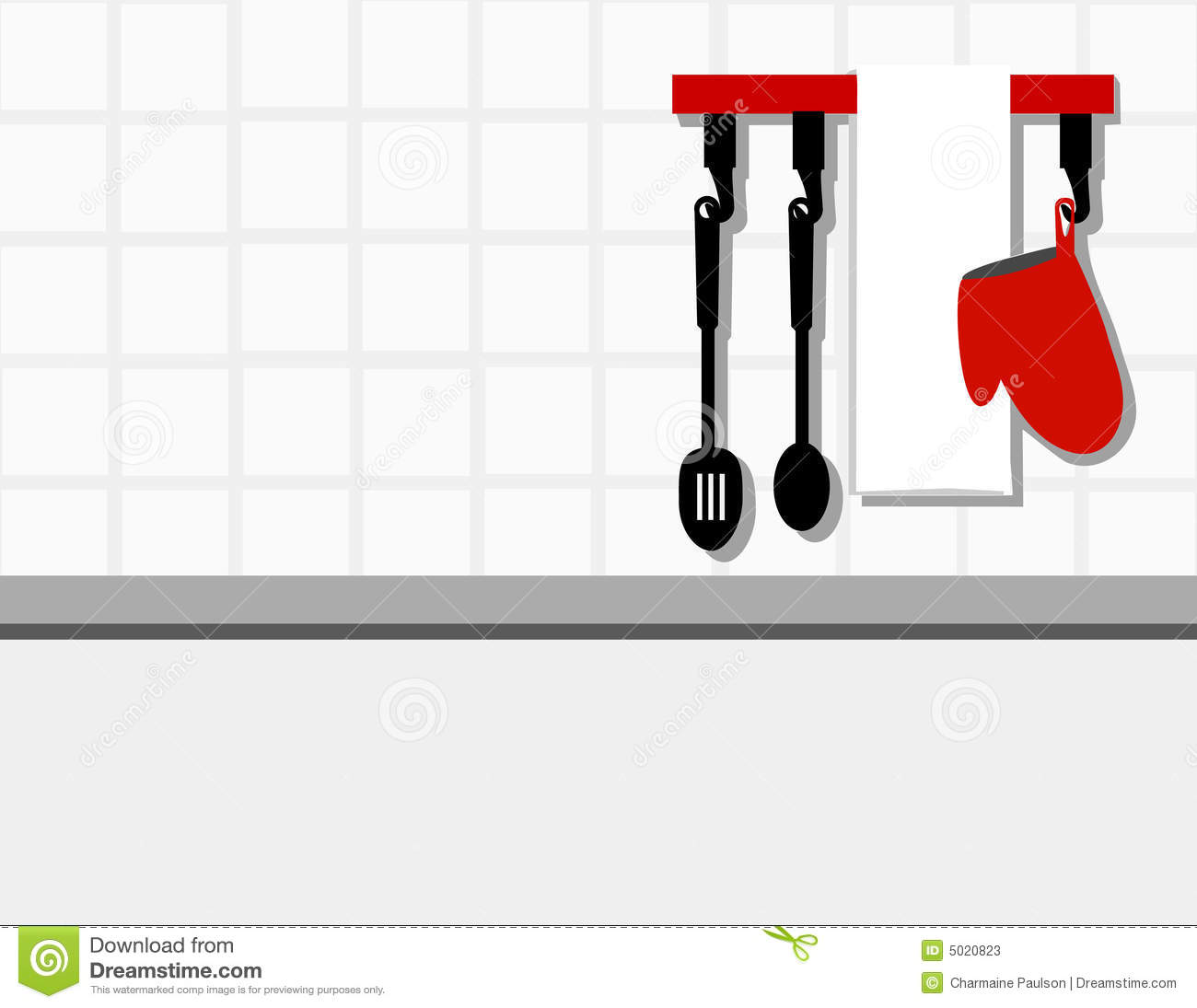 Kitchen Wall Clip Art: Kitchen Wall Background Stock Photos