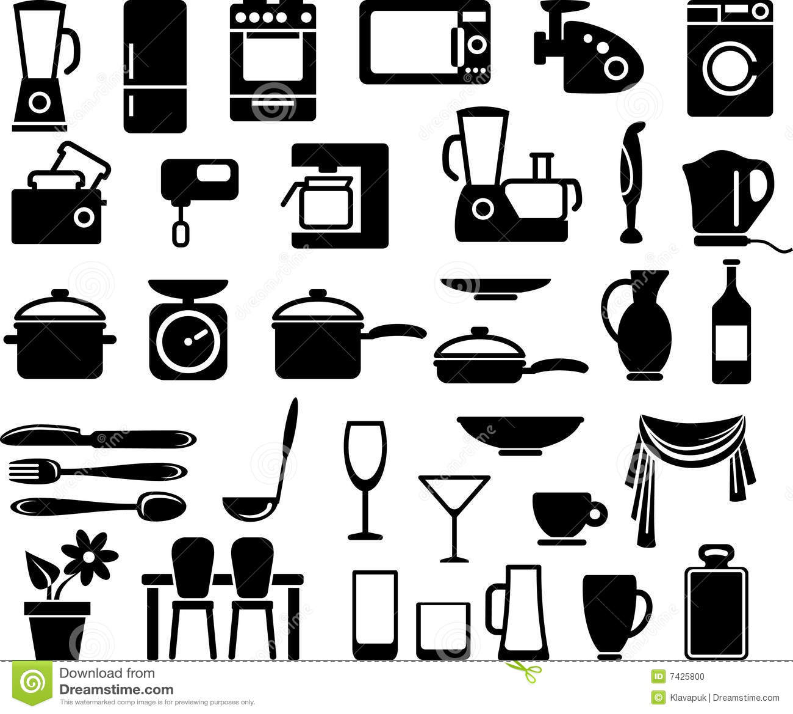Names Of Kitchen Appliances Kitchen Appliances Royalty Free Stock Images Image 3547179