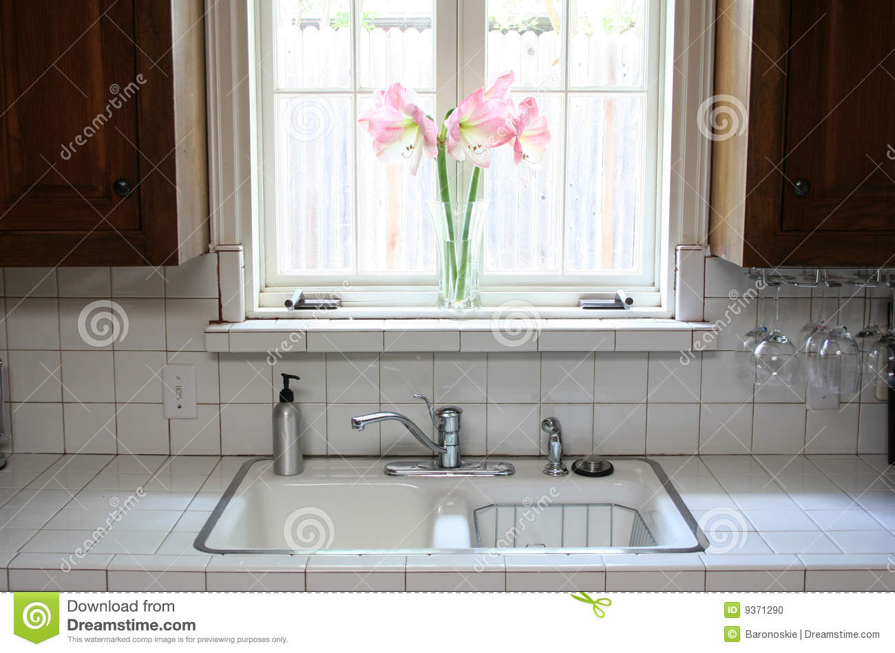 Kitchen Window Kitchen Window Stock Photo Image 9371290