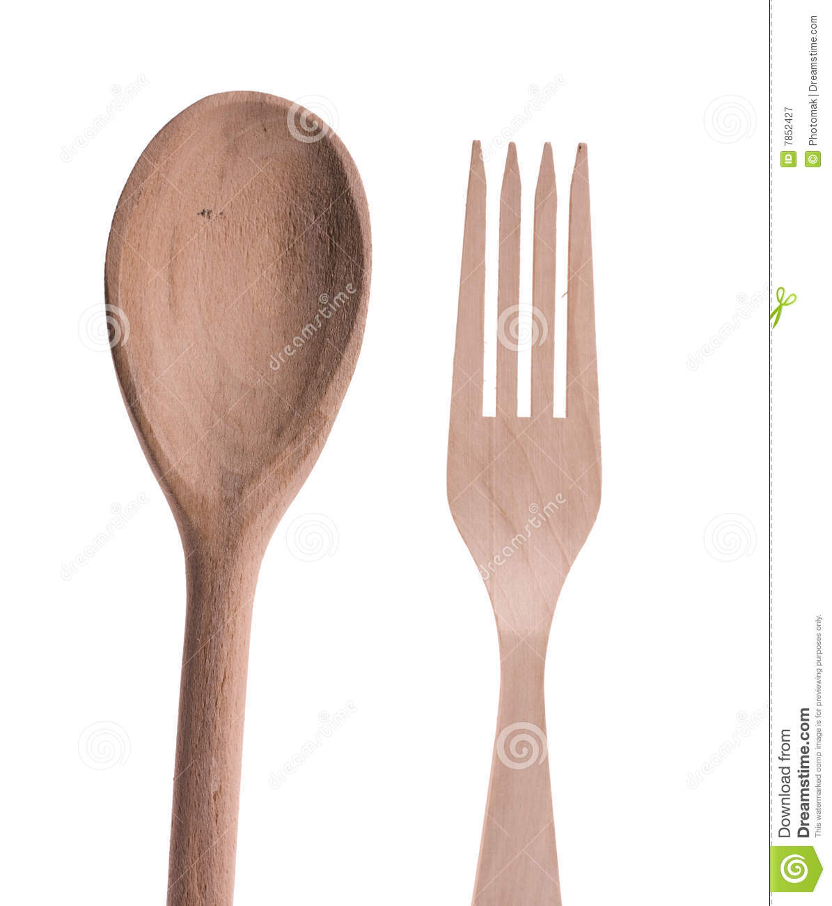 Kitchen Wooden Accessories Spoon And Fork Royalty Free Stock