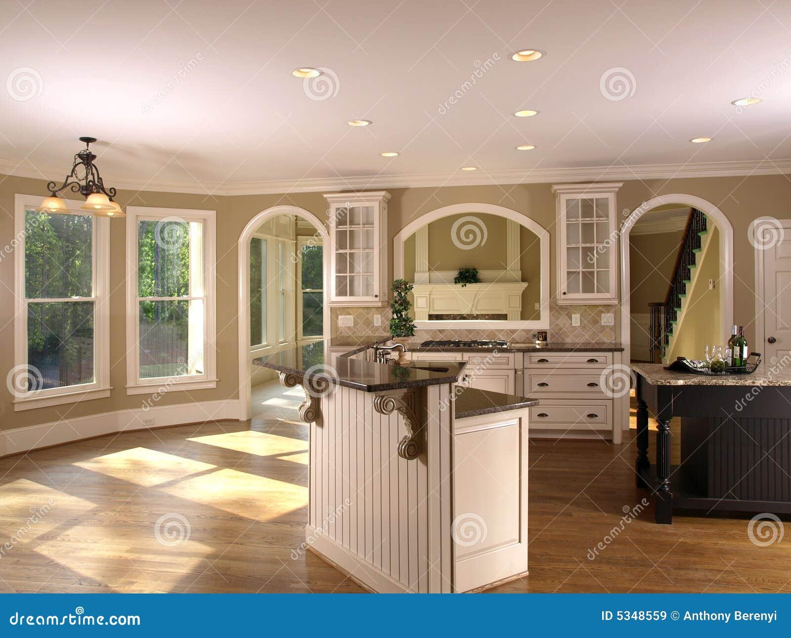 kitchenette de luxe 1 de maison mod le images libres de droits image 5348559. Black Bedroom Furniture Sets. Home Design Ideas