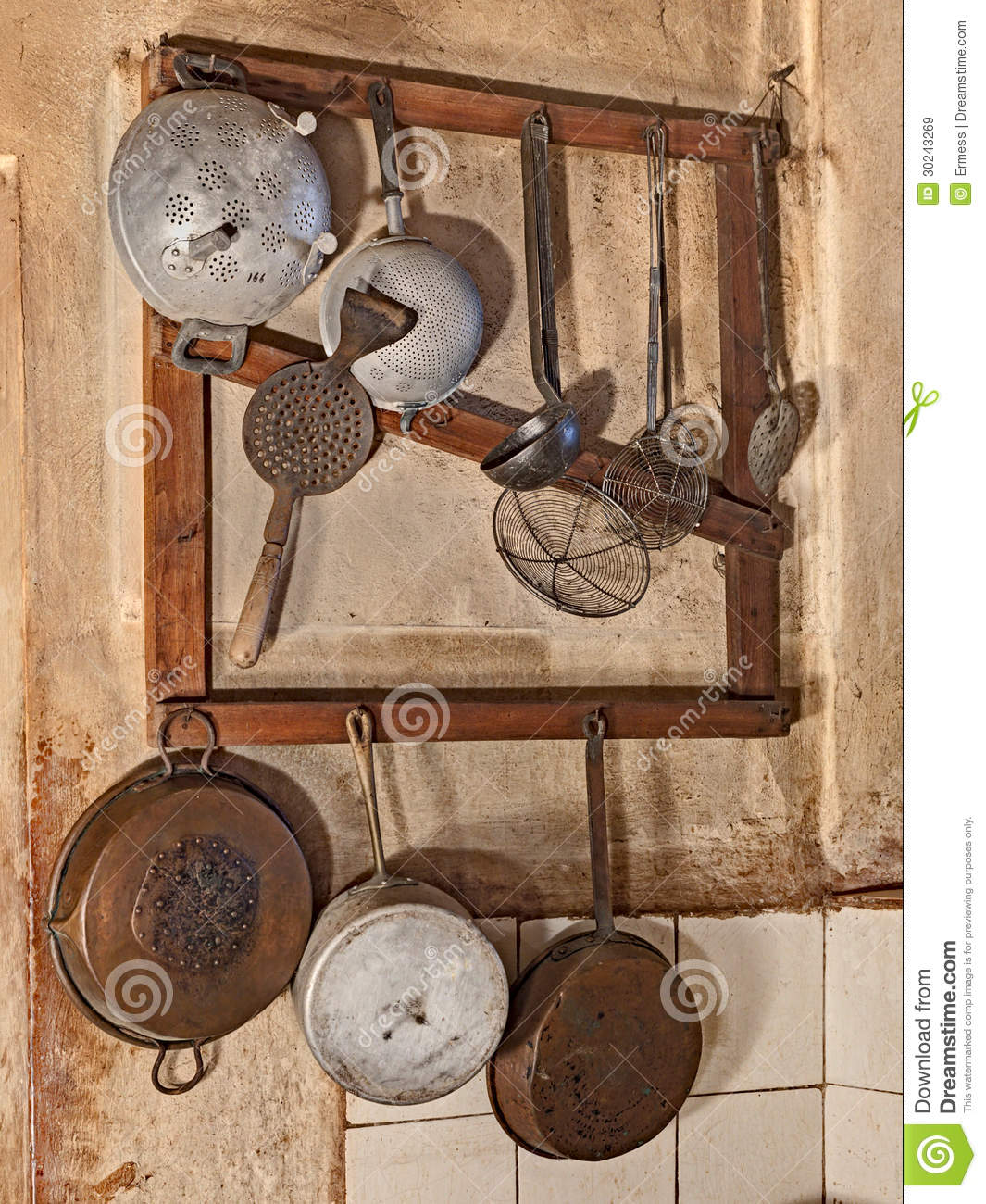 Old Kitchenware Royalty Free Stock Images