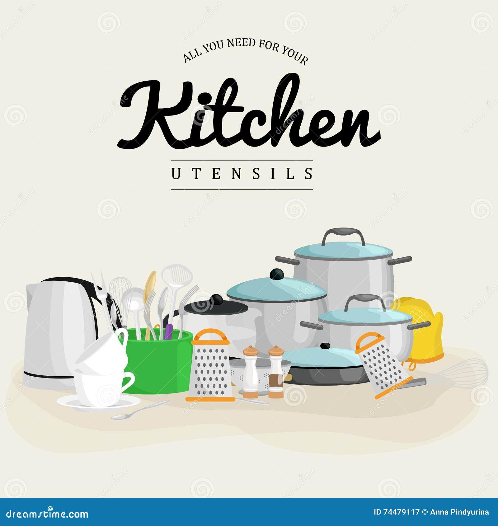 Kitchenware vector icons cartoon vector cartoondealer for Kitchen set vector