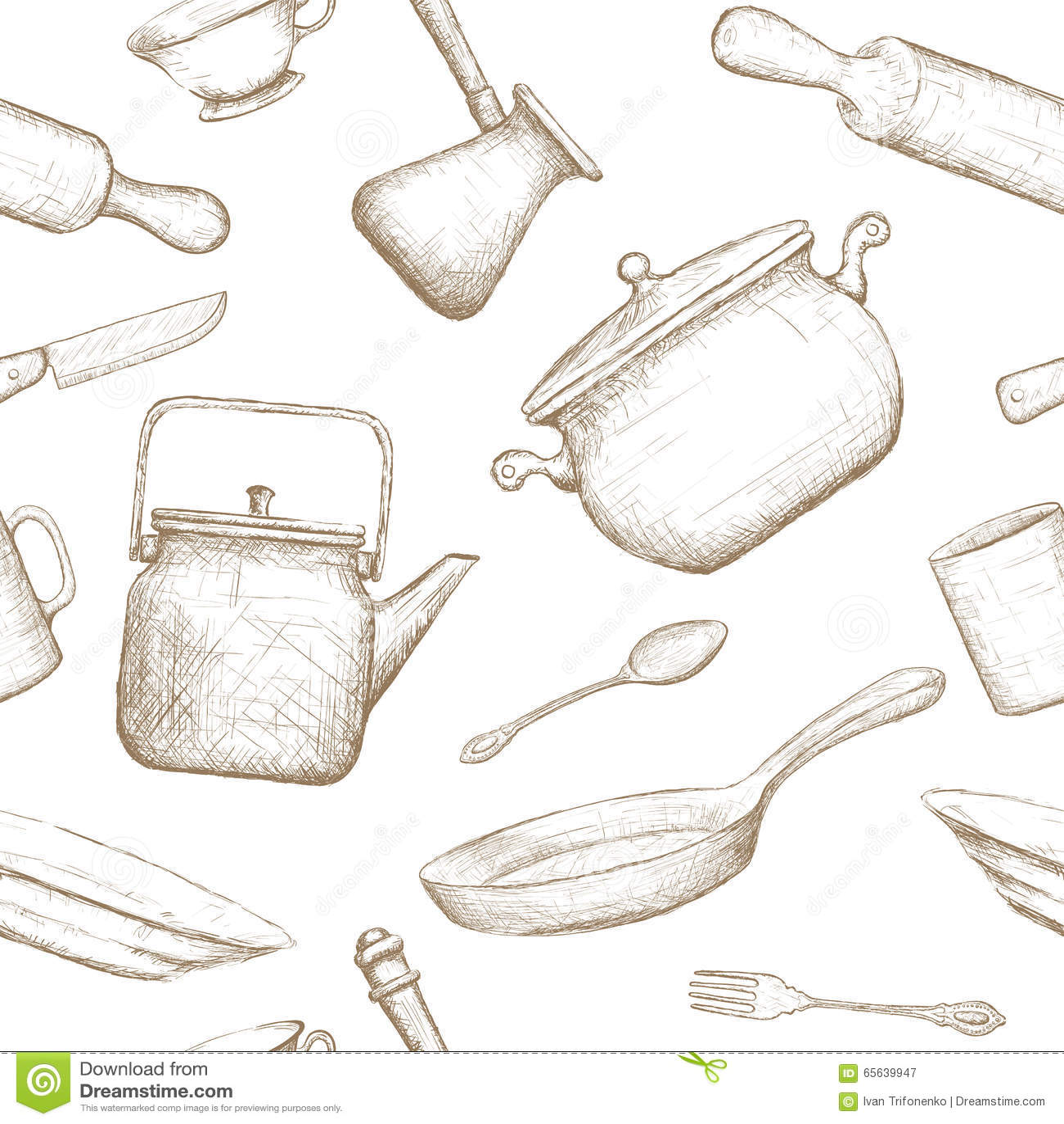 Kitchenware Illustration courante