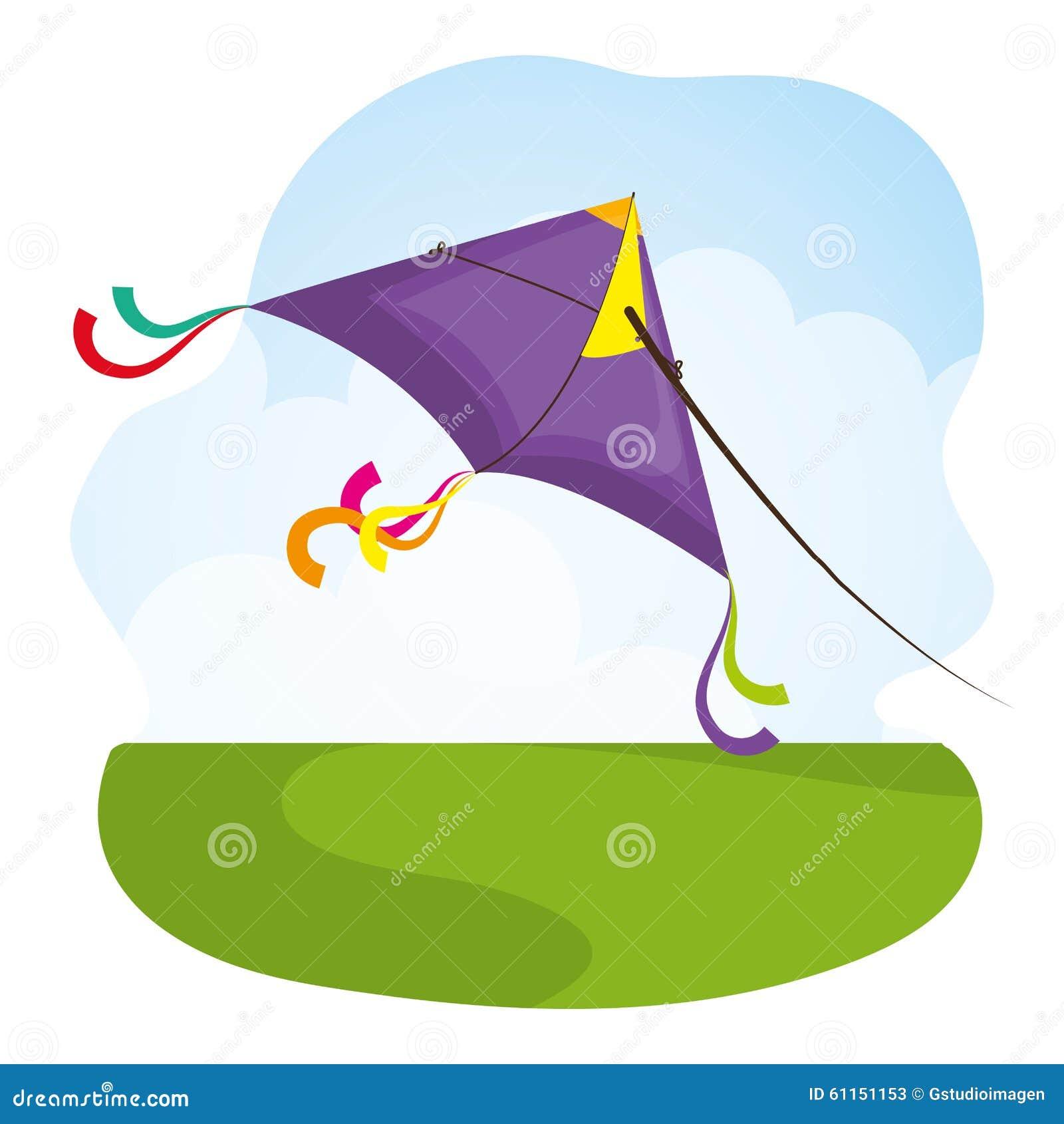 flying kite illustration - photo #24