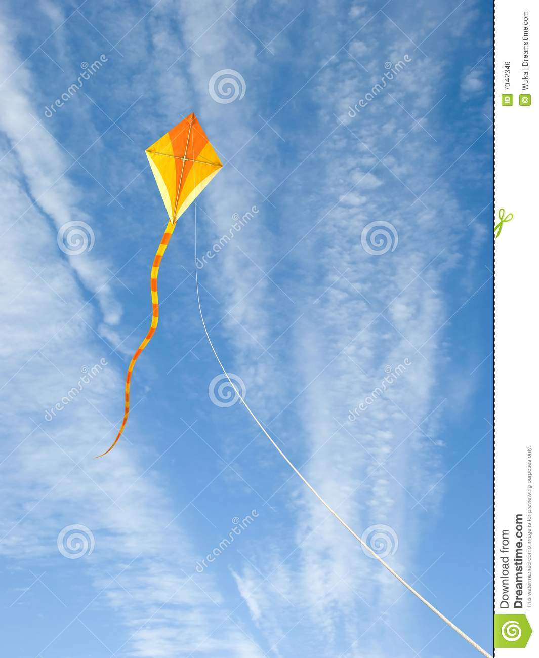 Download Kite in the Sky stock photo. Image of high, cirrus, freedom - 7042346