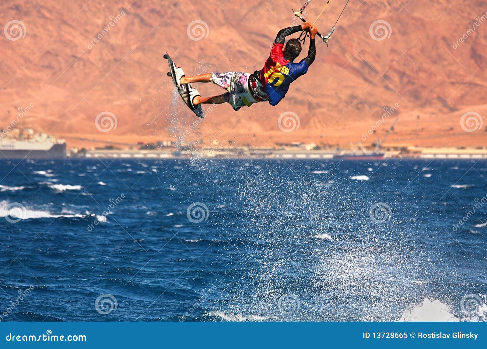 Kitesurfer on the Red Sea.