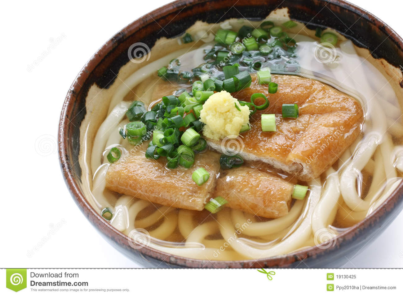Kitsune Udon , Japanese Noodle Dish Royalty Free Stock Photo - Image ...