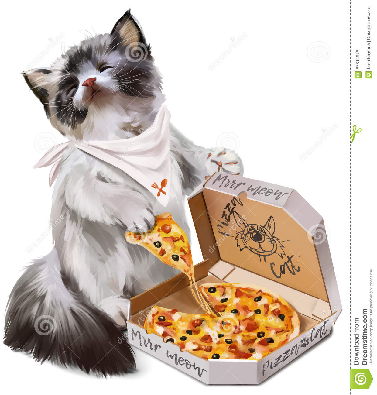 Cat With Pizza Eyes