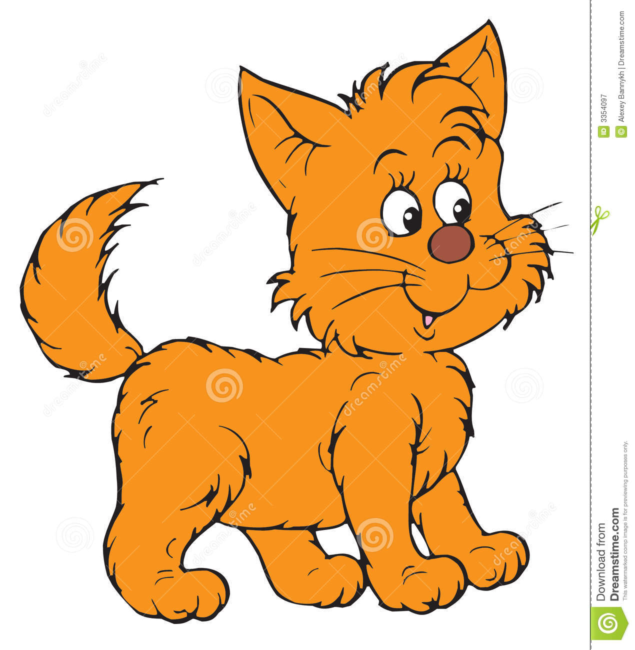 kitten vector clip art stock vector illustration of color 3354097 rh dreamstime com clipart kitchen clip art kitchen tools