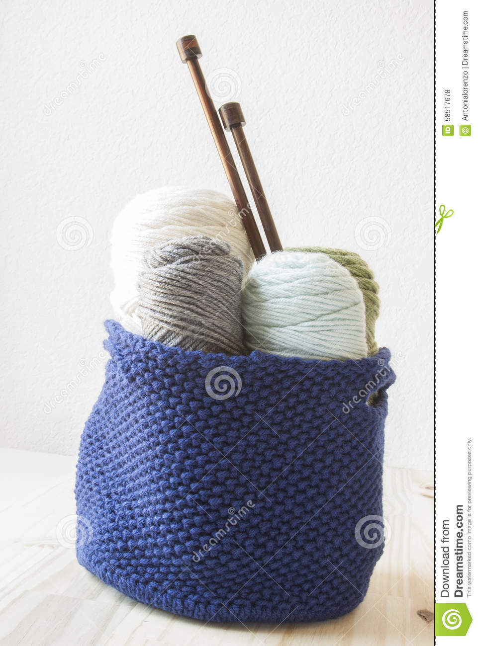 Kitting Yarn Stock Photo Image Of Wooden Cable Home 58517678