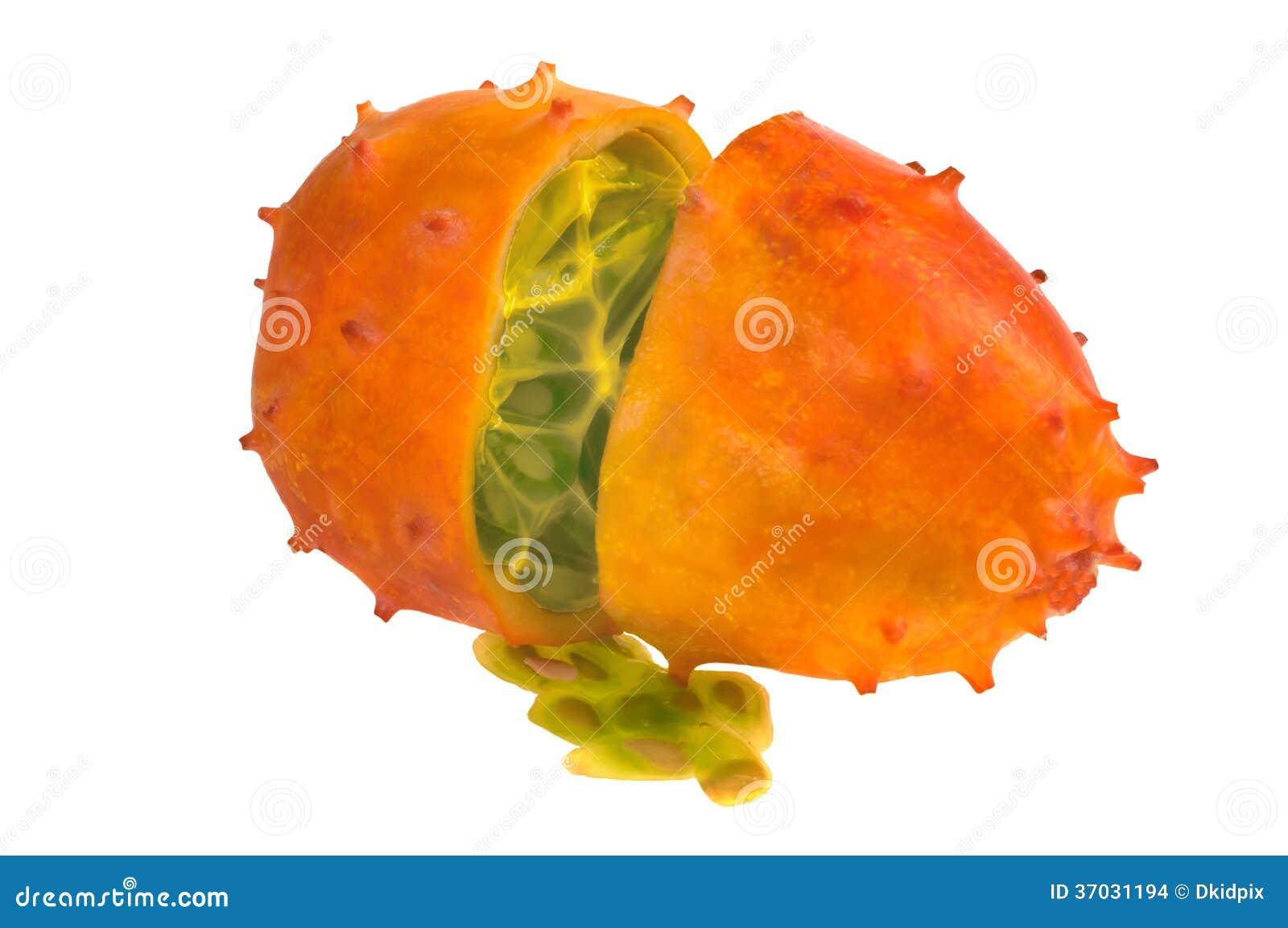 Beautiful fruit pictures - Beautiful Kiwano Fruit Cut In Two