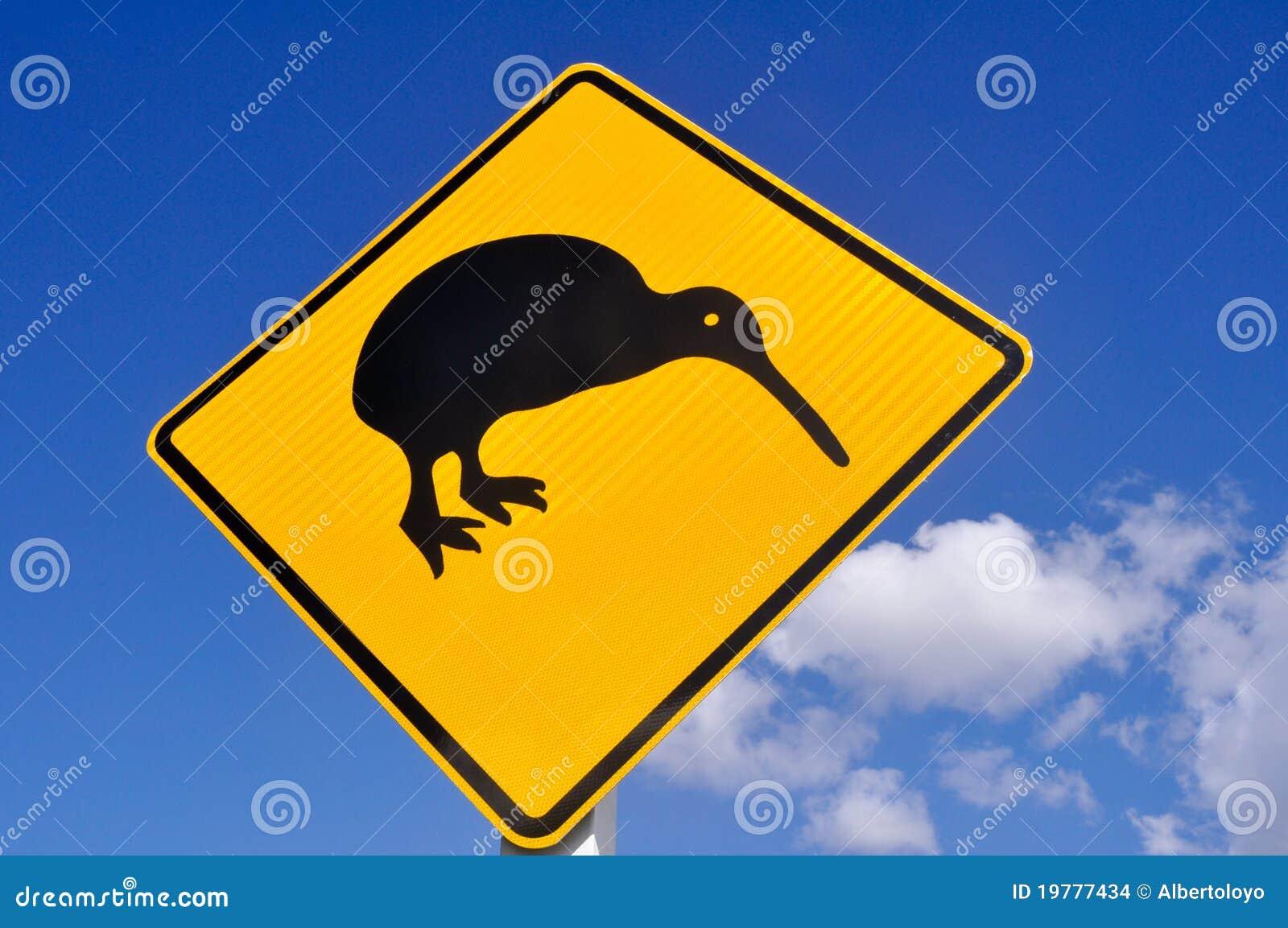 Kiwi auf der Straße