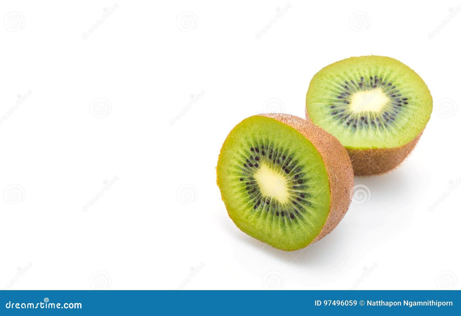 Kiwi fresco su bianco
