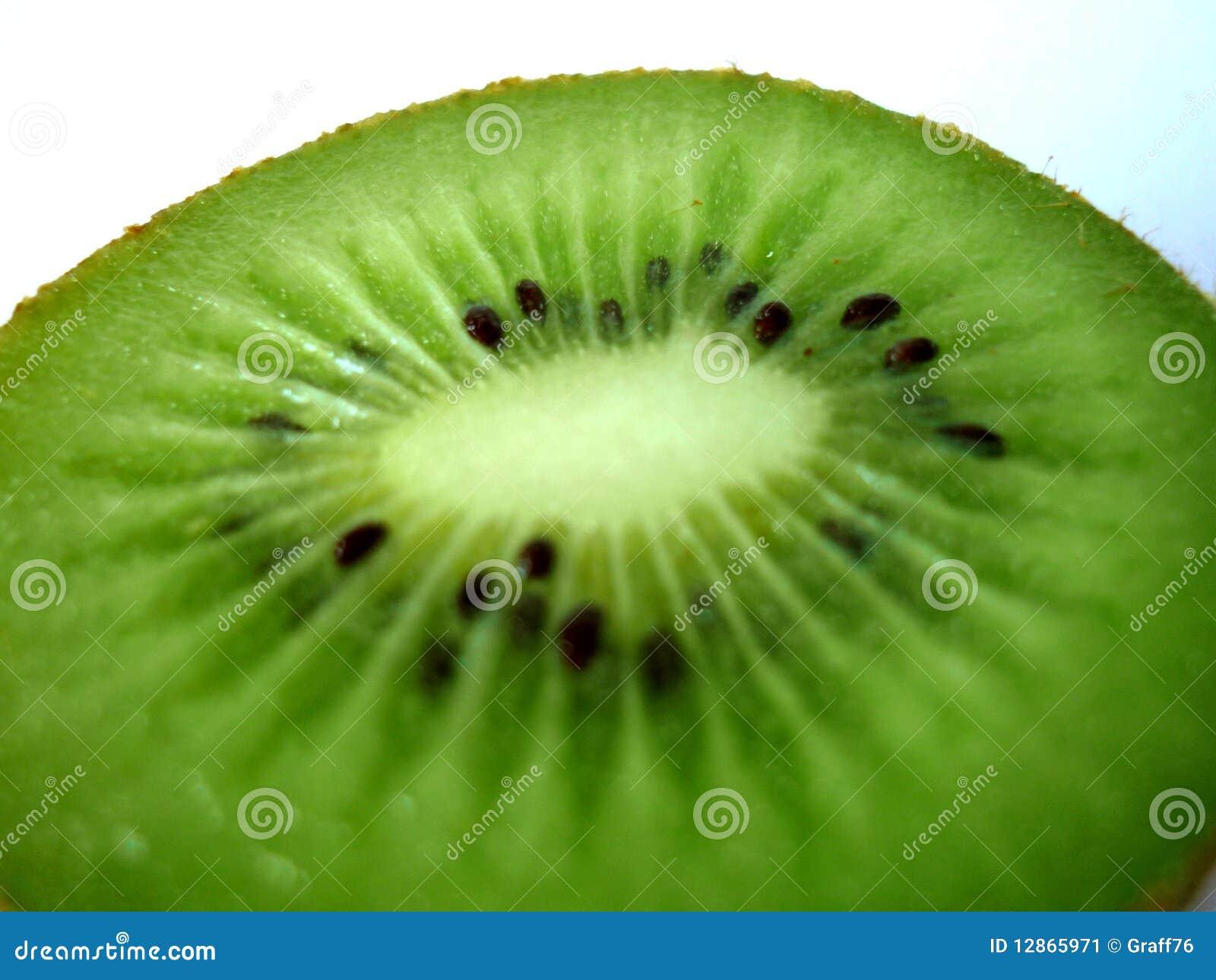 Kiwi fruit cut in half close up - Kiwi Fruit Stock Image Image 12865971